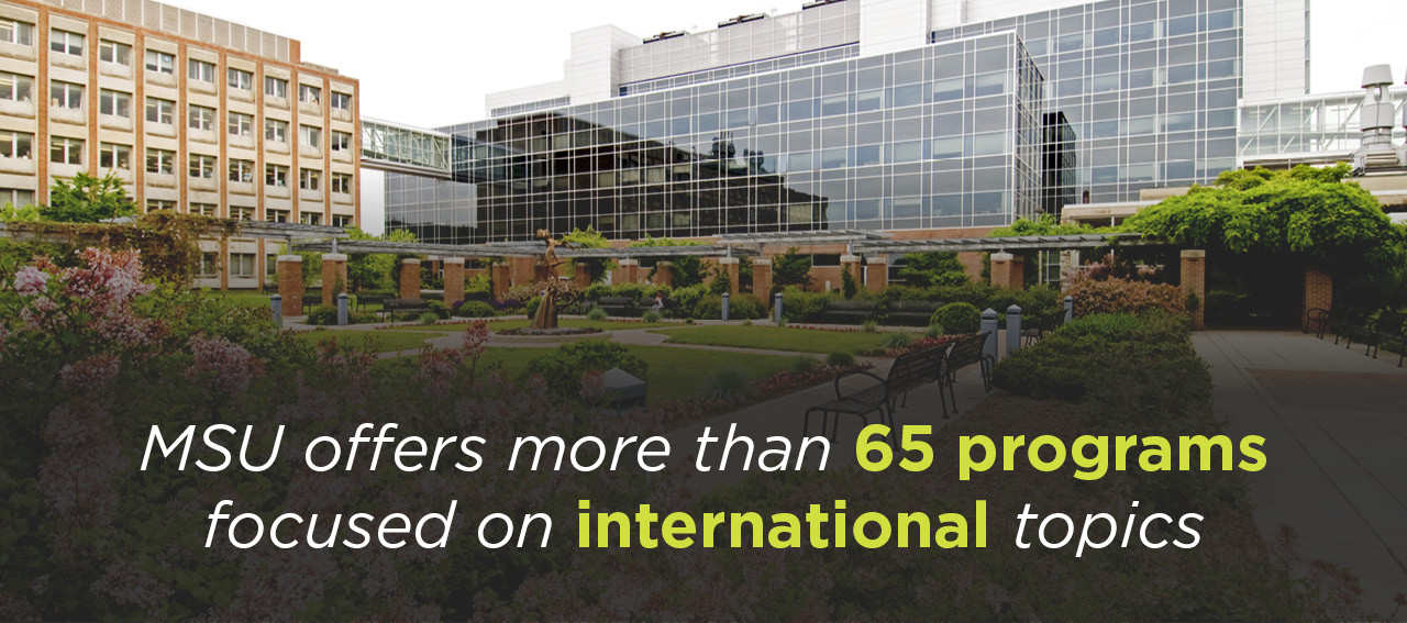 MSU offers more than 65 programs focused on international topics