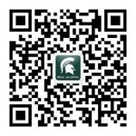 This is a unique QR code for the official WeChat account for MSU alumni.